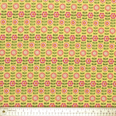 "RILEY BLAKE ""SUMMER SONG"" SUMMER FLOWERS Yellow by 1/2 yard"