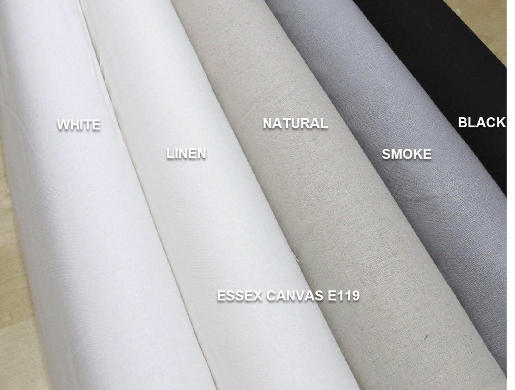 "ROBERT KAUFMAN ""ESSEX CANVAS"" E119-1713 SMOKE by the 1/2 yard"