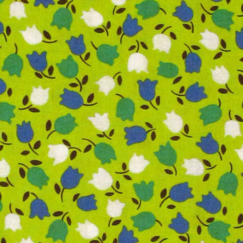 "MODA ""HOOPLA"" TULIP Green by 1/2 yard"