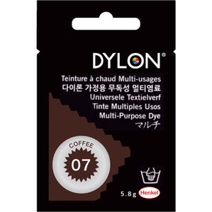 "DYLON ""MULTI PURPOSE HOT WATER DYE"" 5g package COFFEE"