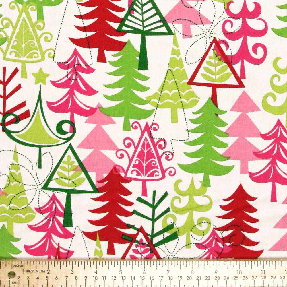 "MICHAEL MILLER ""YULE TREES"" Santa by 1/2 yard"