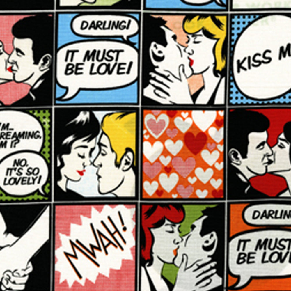 "MICHAEL MILLER ""KISS ME"" CX5479 Multi 16 inches WOF"
