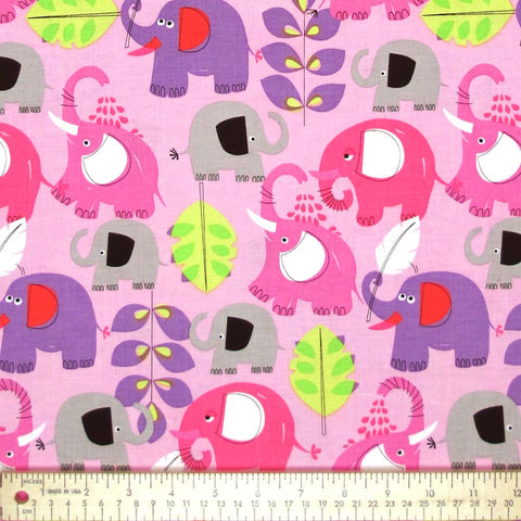 "MICHAEL MILLER ""PACHYDERM SHOWER"" Pink BY 1/2 YARD"