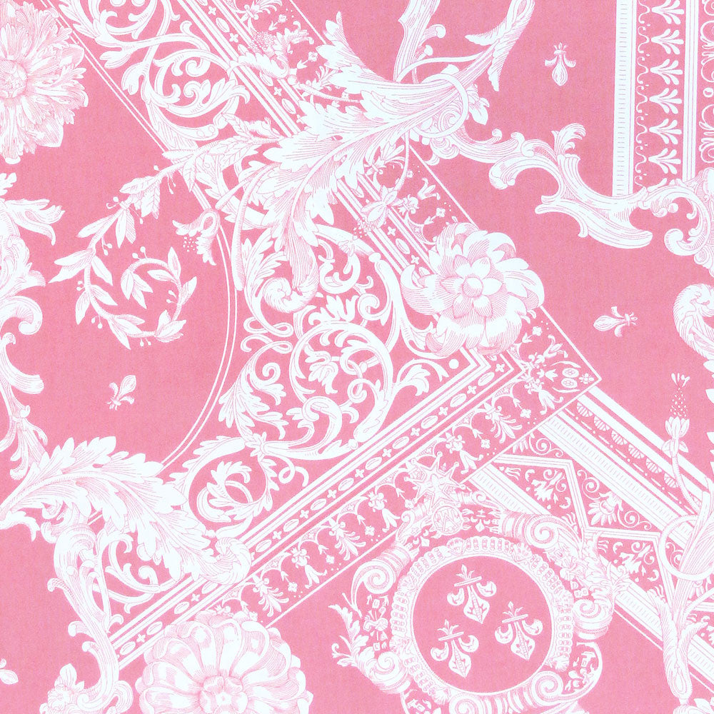 "ALEXANDER HENRY ""CARTOUCHE"" (Scroll and Leaves) Pink by 1/2 yard"