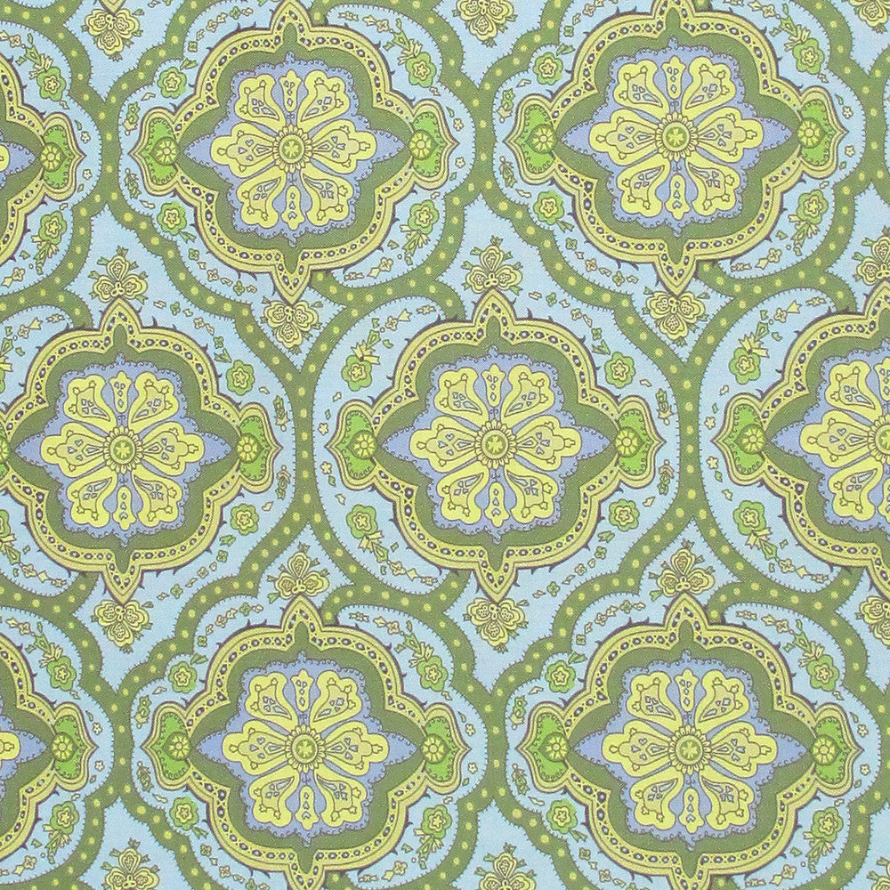 "AMY BUTLER ""CHARM"" COVINGTON TILE Blue,Green,Yellow by 1/2 yard"