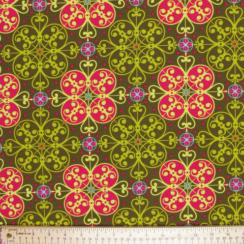 "MICHAEL MILLER ""GOTHIC FLOWER"" Moss by 1/2 yard"