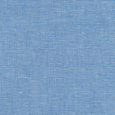 "ROBERT KAUFMAN ""ESSEX YARN DYED HOMESPUN"" Linen Cotton Blend DELFT by the 1/2 yard"