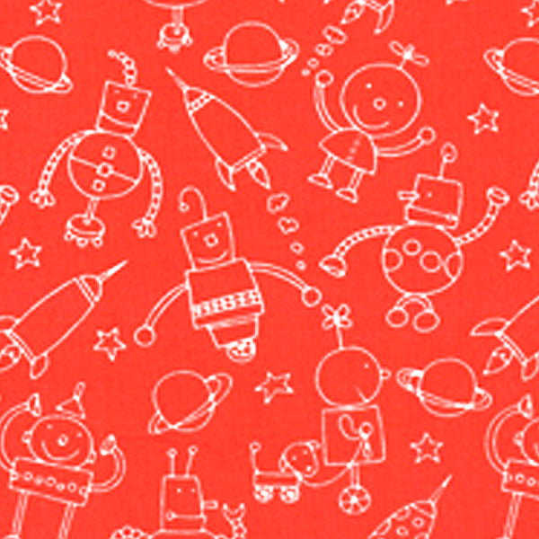 "FREE SPIRIT ""ROBOTS"" LINEWORK ROBOTS Red 28 inches"