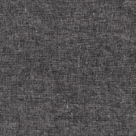 "ROBERT KAUFMAN ""ESSEX CANVAS"" E120-1019 YARN DYED BLACK by the 1/2 yard"