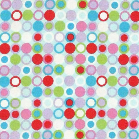 "HOFFMAN ""MULTIPLE CHOICE"" DOTS Sky by 1/2 yard"