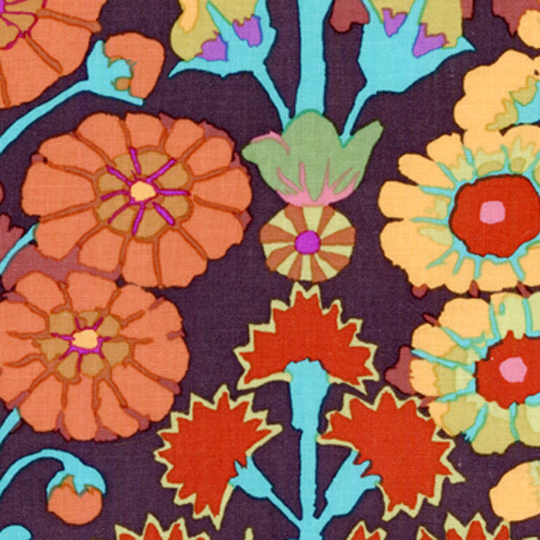 "KAFFE FASSETT ""SPRAYS"" Brown 22 inches"