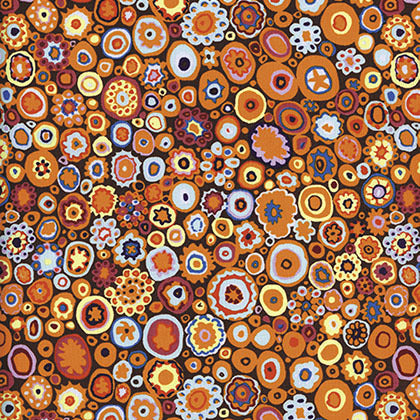 "KAFFE FASSETT ""PAPERWEIGHT"" GP20 PUMPKIN by the 1/2 yard"