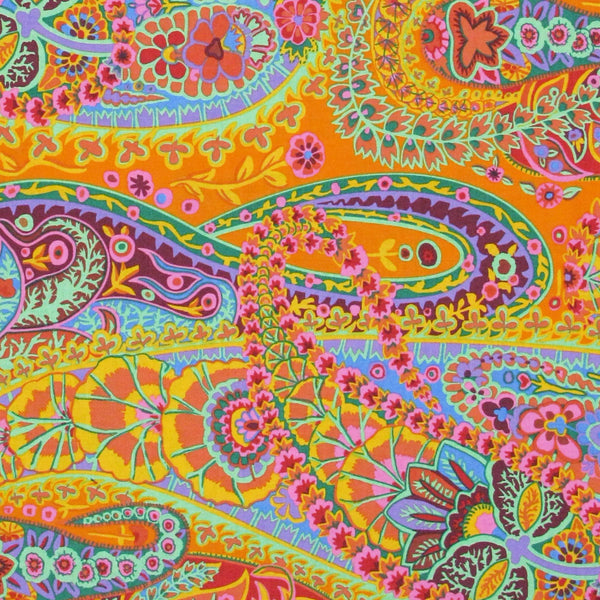 "KAFFE FASSETT ""PAISLEY JUNGLE"" Tangerine 25 inches"