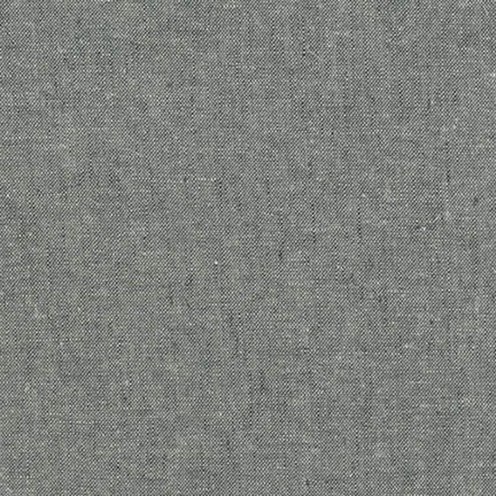 "ROBERT KAUFMAN ""ESSEX YARN DYED"" Linen Cotton Blend GRAPHITE by the 1/2 yard"