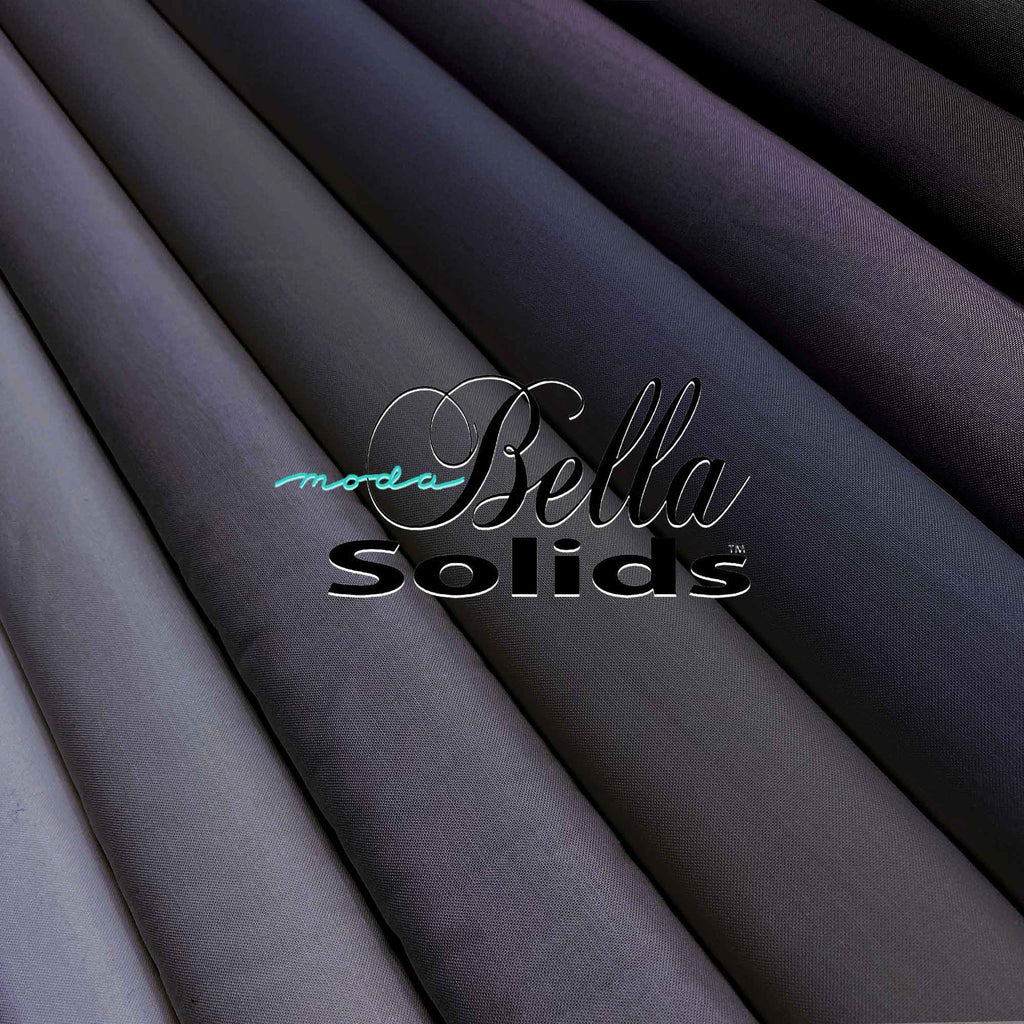"MODA ""BELLA 9900"" SOLID COTTON Gray-Black by the 1/2 yard"