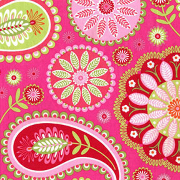 "MICHAEL MILLER ""GYPSY PAISLEY"" Pink 23 inches"