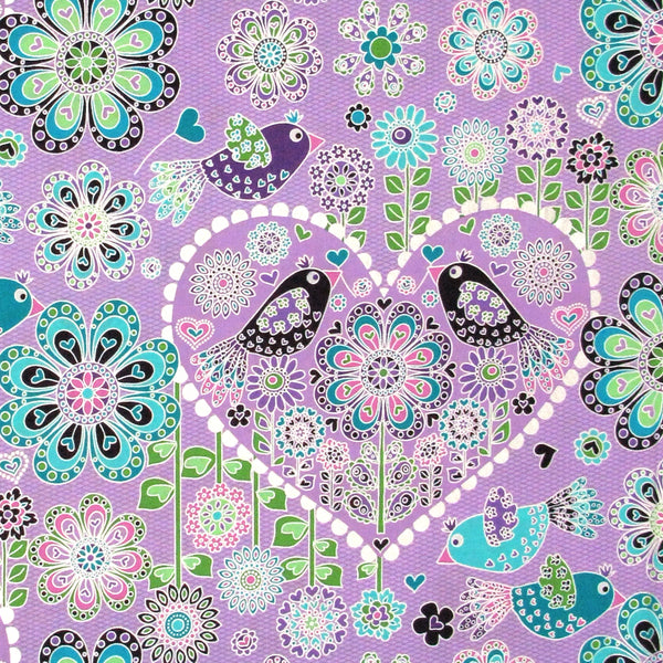 "HOFFMAN ""FANCIFUL FLIGHT"" HEART Lavender Pearl 24 inches"