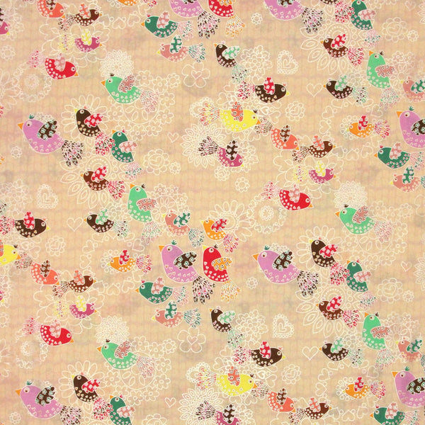 "HOFFMAN ""FANCIFUL FLIGHT"" BIRDS Cream Pearl"