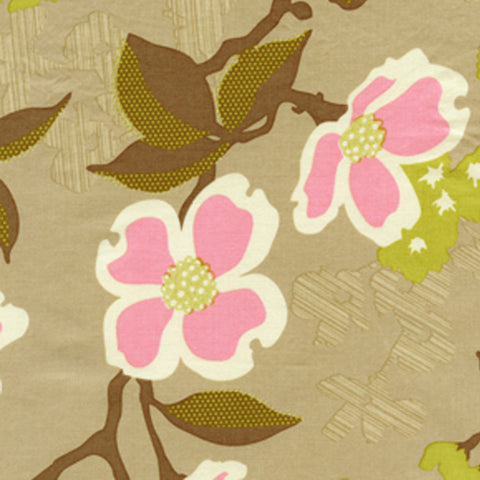 "JOEL DEWBERRY ""MODERN MEADOW"" DOGWOOD BLOOM Pink by 1/2 yard"