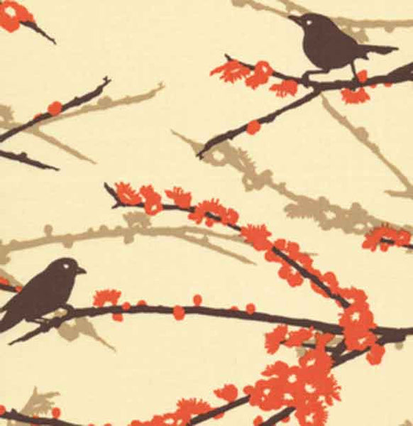 "JOEL DEWBERRY ""AVIARY 2"" SPARROWS Bark by 1/2 yard"