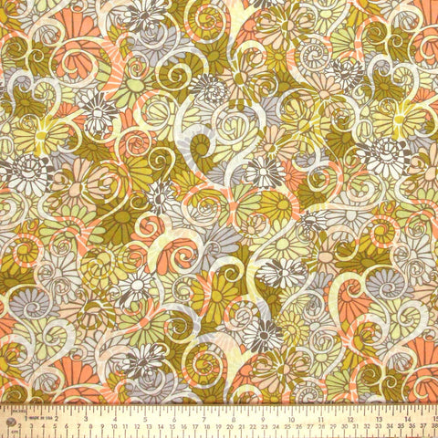 "FREE SPIRIT ""WILD WORLD"" DAY TRIP Peach by 1/2 yard"