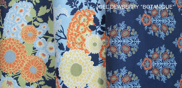 "JOEL DEWBERRY ""BOTANIQUE"" BOLD BOUQUET Deep Water"