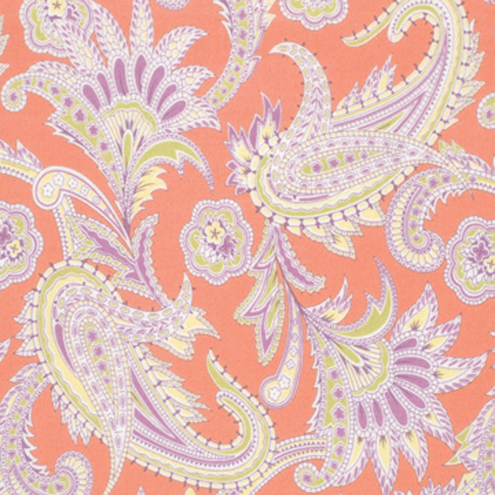 "AMY BUTLER ""GYPSY CARAVAN"" TURKISH PAISLEY FLANNEL Nectarine 1 yard 32 inches"