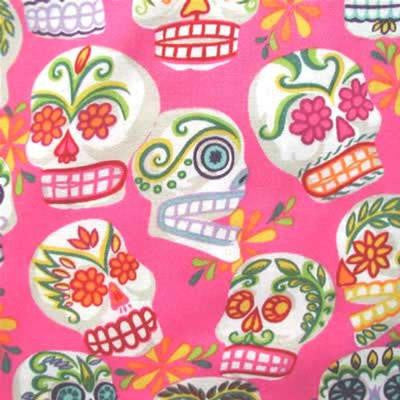 "ALEXANDER HENRY ""MINI CALAVERAS"" Hot Pink 25 inches"
