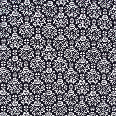 ROBERT KAUFMAN *PIMATEX BASICS* DAMASK Black by 1/2 yard