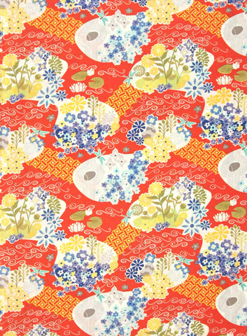 "MODA ""GOOD FORTUNE"" GARDEN Spirit by 1/2 yard"