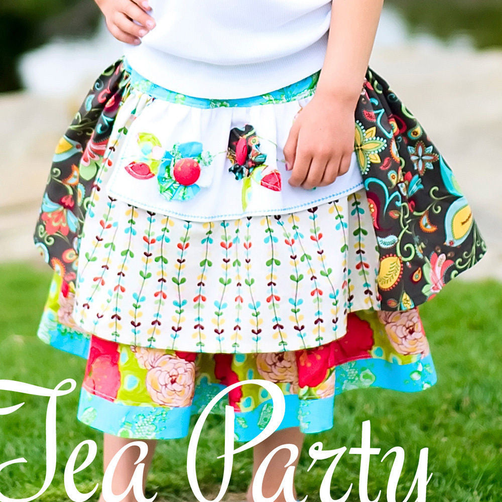 "PINK FIG ""TEA PARTY- APRON SKIRT AND TOP"" Sewing Pattern"