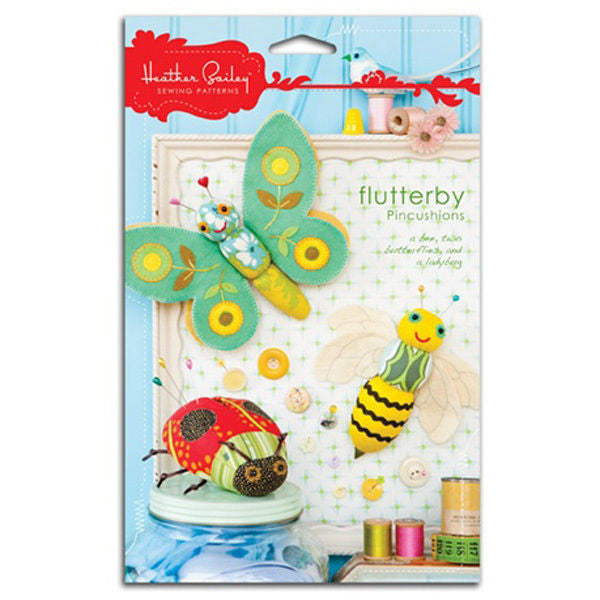 "HEATHER BAILEY ""FLUTTERBY PINCUSHIONS"" Sewing Pattern"