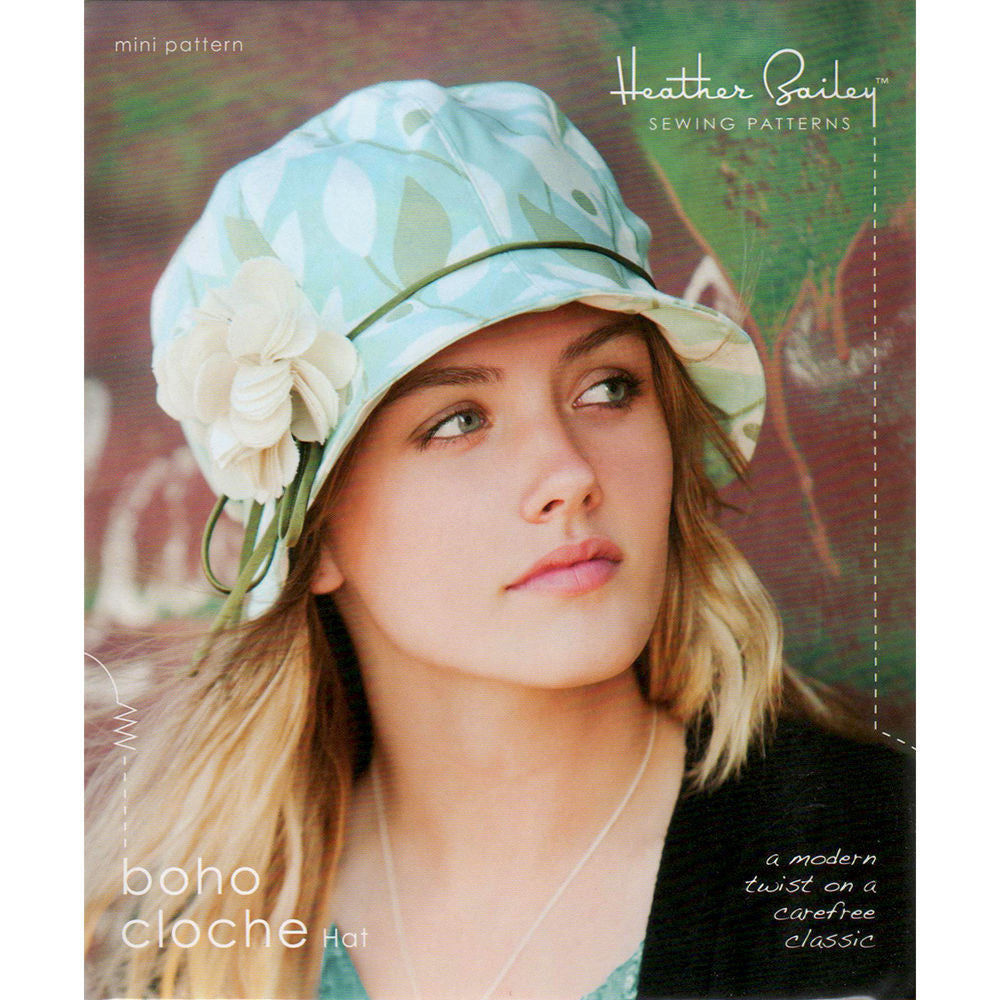 "HEATHER BAILEY ""BOHO CLOCHE HAT"" Sewing Pattern"
