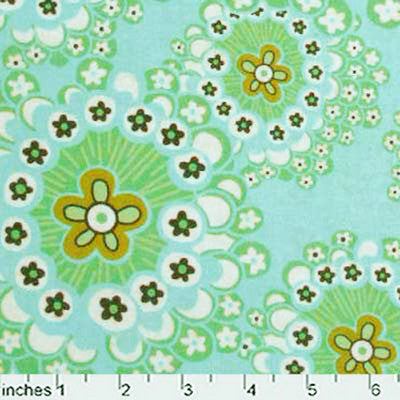 "AMY BUTLER ""DAISY CHAIN"" DANDELION FIELD Mist by 1/2 yard"