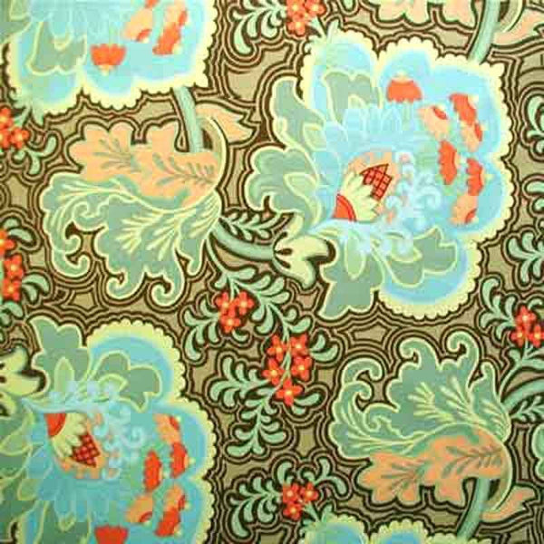 "AMY BUTLER ""BELLE"" GOTHIC ROSE Blue by 1/2 yard"
