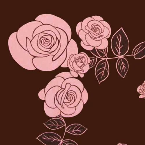 "ROBERT KAUFMAN ""TANGO ROSES"" ROSES Brown by 1/2 yard"
