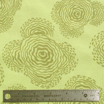 "AMY BUTLER ""MIDWEST MODERN"" FLOATING BUDS Sage by 1/2 yard"
