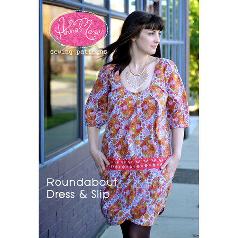 "ANNA MARIA ""ROUNDABOUT DRESS & SLIP"" Sewing Pattern"