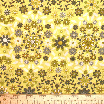 "FREE SPIRIT ""SILENT CINEMA"" SUNRISE Yellow by 1/2 yard"