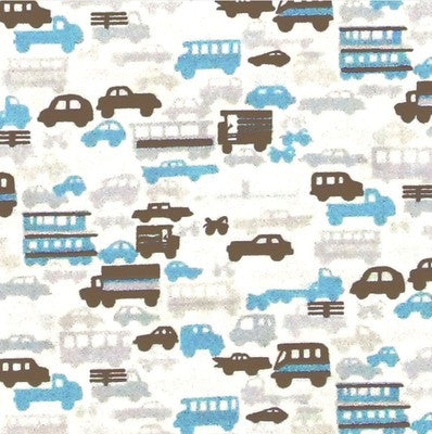 "ALEXANDER HENRY ""RUSH HOUR"" Baby Blue by 1/2 yard"