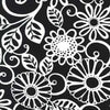 "MICHAEL MILLER ""FLORAL FLING"" Black by 1/2 yard"