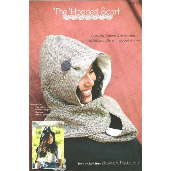 "JAMIE CHRISTINA ""THE HOODED SCALF"" Sewing Pattern"