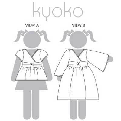 "MODKID ""KYOKO-ASIAN INSPIRED SHIRT AND DRESS FOR GIRLS"" Sewing Pattern"