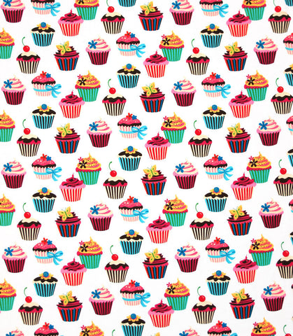 "ROBERT KAUFMAN ""SWEET TOOTH"" CUPCAKE Spring by 1/2 yard"
