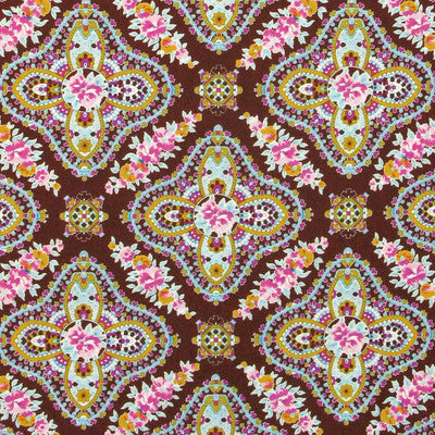 "FREE SPIRIT ""WEST INDIES"" MARIE Cocoa by 1/2 yard"