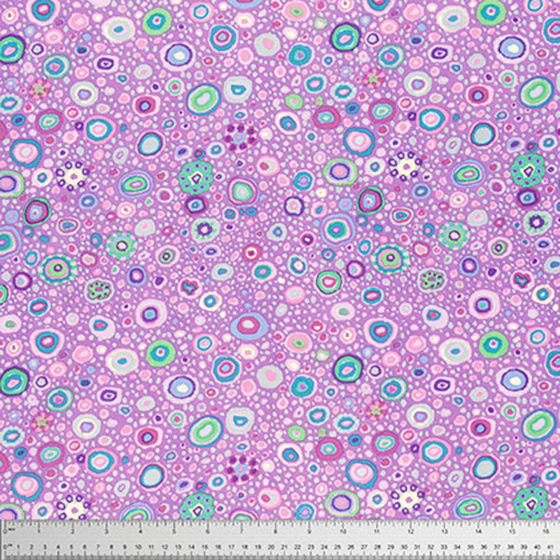 "KAFFE FASSETT ""ROMAN GLASS"" GP01 LAVENDER by the 1/2 yard"