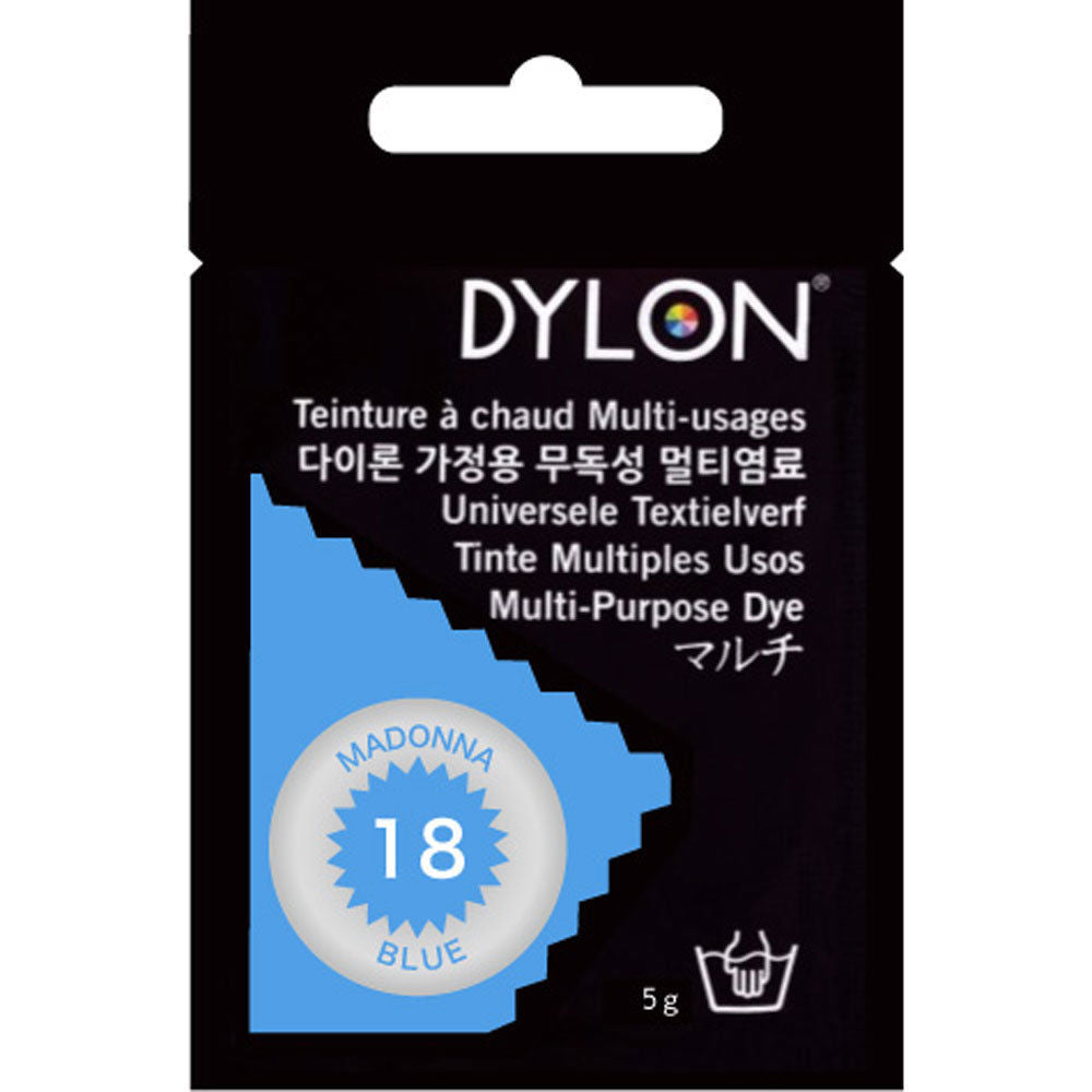 "DYLON ""MULTI PURPOSE HOT WATER DYE"" 5g package MADONNA BLUE"