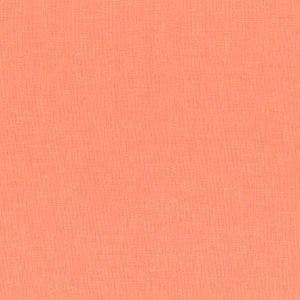 "ROBERT KAUFMAN ""ESSEX"" Linen Cotton Blend MANGO by the 1/2 yard"