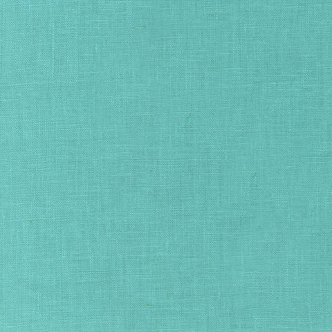 "ROBERT KAUFMAN ""ESSEX"" Linen Cotton Blend MED AQUA by the 1/2 yard"