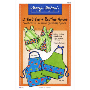 "MARY MULARI DESIGNS ""LITTLE SISTER & BROTHER APRON"" Sewing Pattern"